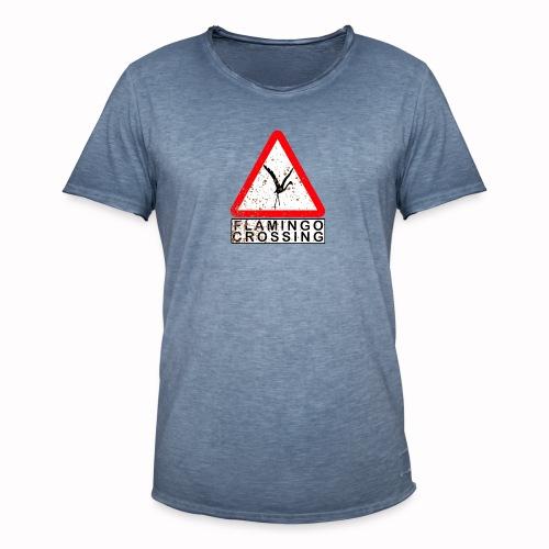 flamingo crossing - Männer Vintage T-Shirt