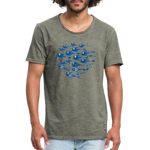 Banco di pesci / Banco del pesce - Maglietta vintage da uomo
