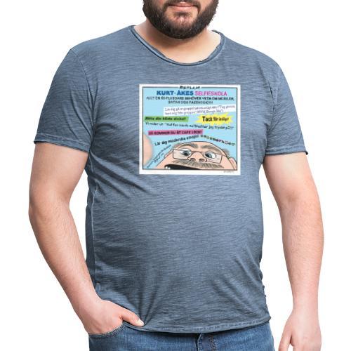 Kurt-Åkes selfieskola - Vintage-T-shirt herr