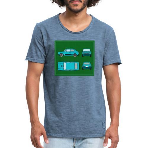 127 azul - Camiseta vintage hombre