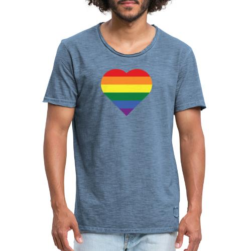 RainbowHeart - Men's Vintage T-Shirt