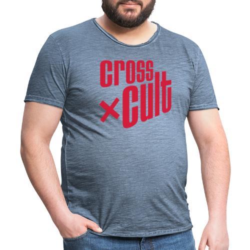 Cross Cult Logo Rot - Männer Vintage T-Shirt
