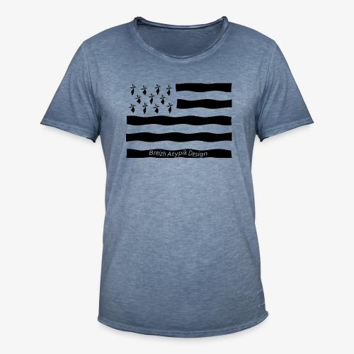 Gwenn ha Du-Noir fond transparent - T-shirt vintage Homme