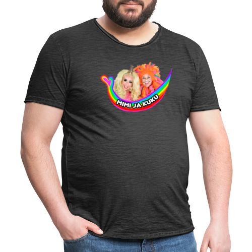 Mimi ja Kuku - Miesten vintage t-paita