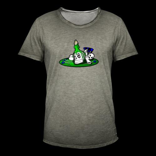 greenSkull svg - Männer Vintage T-Shirt