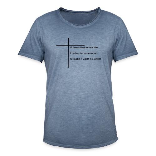 Jesus - Herre vintage T-shirt