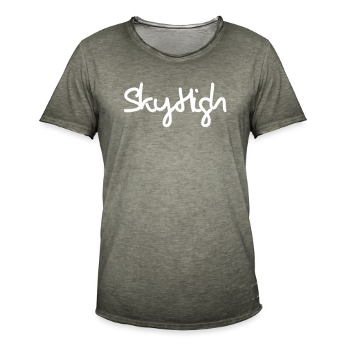 SkyHigh - Men's Premium Hoodie - White Lettering - Men's Vintage T-Shirt