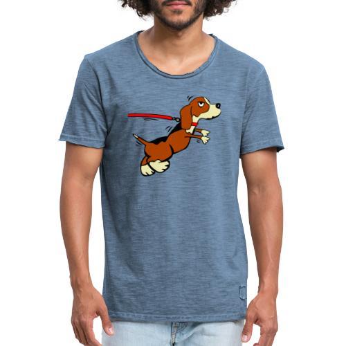 Hund der zieht - Männer Vintage T-Shirt