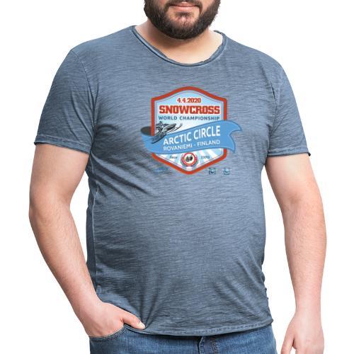 MM Snowcross 2020 virallinen fanituote - Miesten vintage t-paita