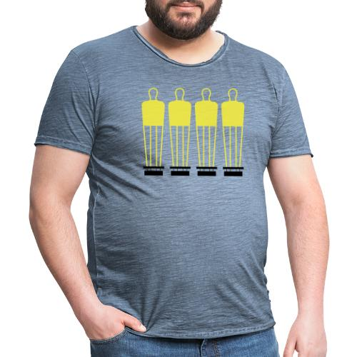 Free Kick Wall - Men's Vintage T-Shirt