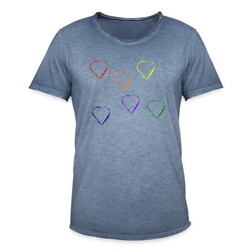 Tanzende Herzen 20.1 - Männer Vintage T-Shirt