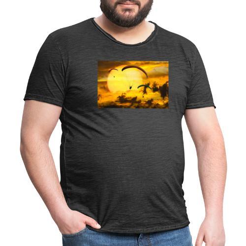 paragliding -Shah - Männer Vintage T-Shirt