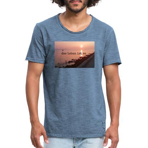 Sunset dLis - Männer Vintage T-Shirt