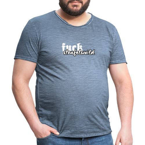 FUCKsteufelswild - Männer Vintage T-Shirt