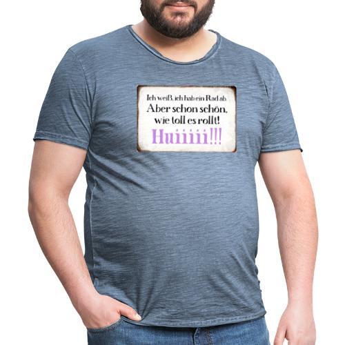 Es rolllllltttt !!! - Männer Vintage T-Shirt