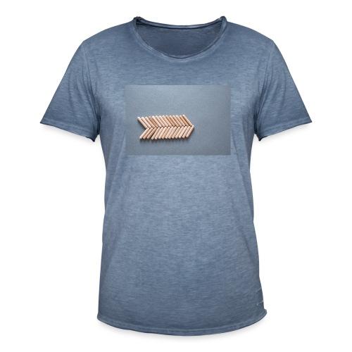 Holzdübel als Gräte - Männer Vintage T-Shirt