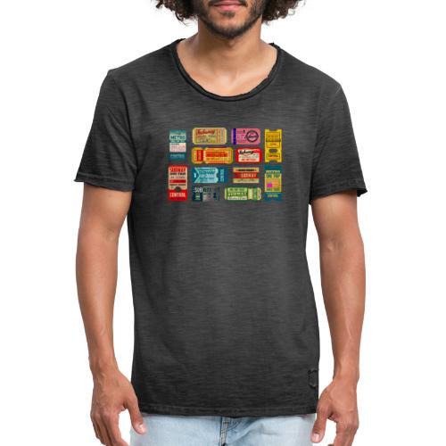 SUBWAY BROADWAY - Camiseta vintage hombre