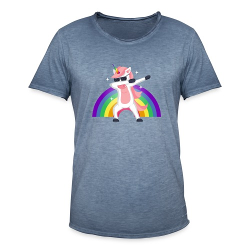 Koszulka jednorożec 12 - Koszulka męska vintage