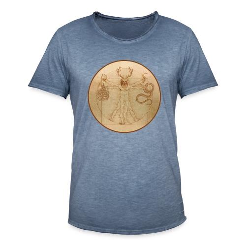 Cernunnos Vitruvio - Maglietta vintage da uomo