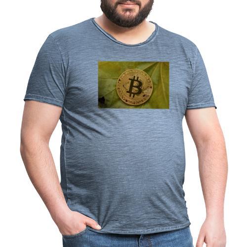 bitcoin - Camiseta vintage hombre