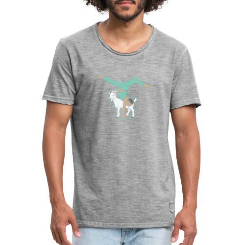 Ziegen Yoga - Männer Vintage T-Shirt