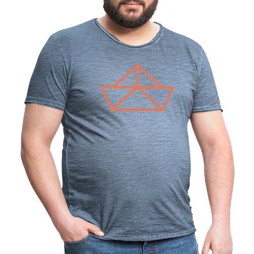 Tinga Logo - Vintage-T-skjorte for menn