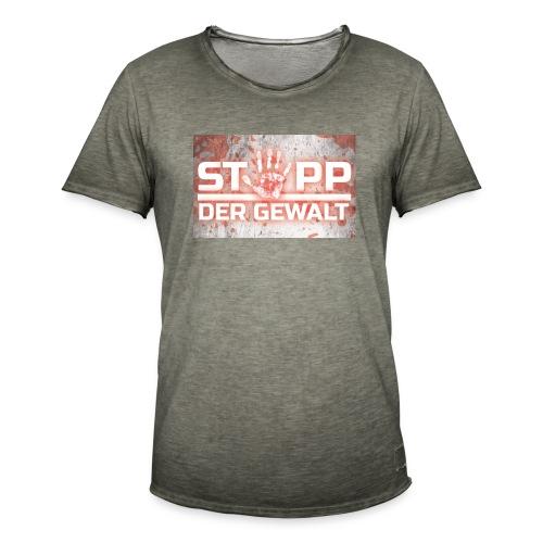 STOPP DER GEWALT - Men's Vintage T-Shirt