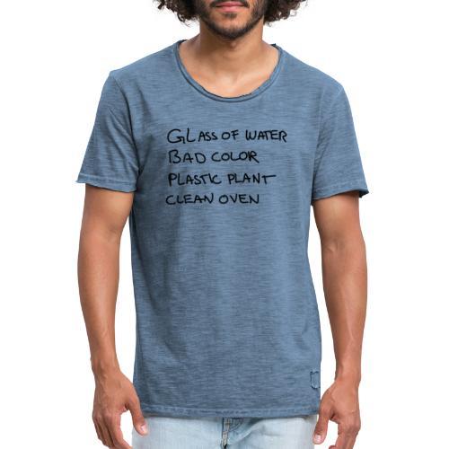 Glass Color Plastic Oven - Men's Vintage T-Shirt