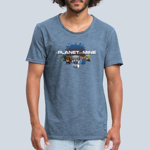 logo planetofmine dark HD - T-shirt vintage Homme