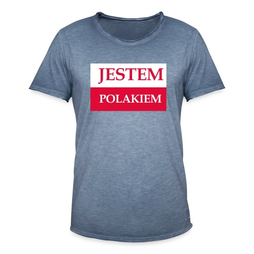 Jestem Polakiem - Koszulka męska vintage
