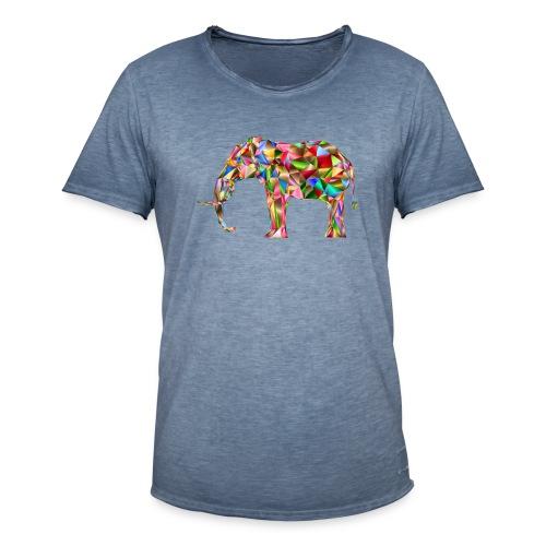 Gestandener Elefant - Männer Vintage T-Shirt