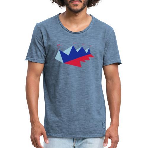 Mountink - Camiseta vintage hombre