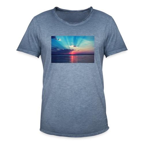 Primus- Sunrise T-shirt Weiß - Männer Vintage T-Shirt