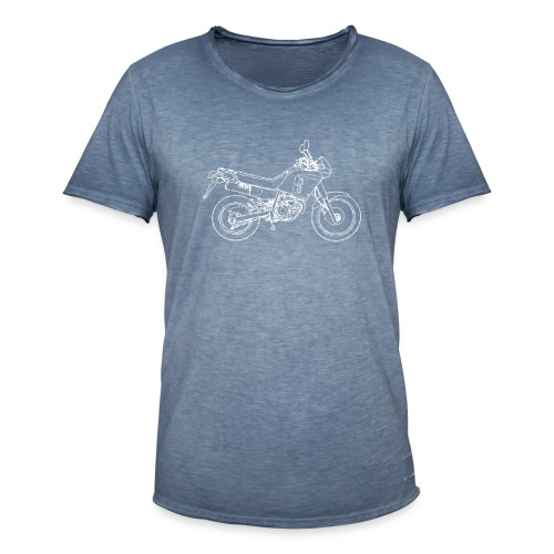 NX line wit - Mannen Vintage T-shirt