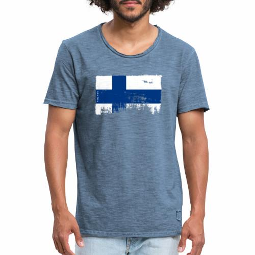 Suomen lippu, Finnish flag T-shirts 151 Products - Miesten vintage t-paita