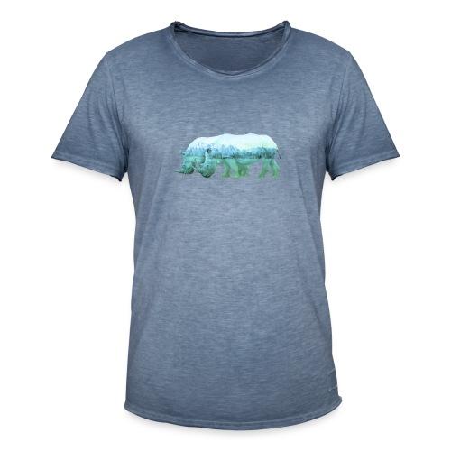 RHINOS, DIE NASHÖRNER IN DEN ALPEN - Männer Vintage T-Shirt