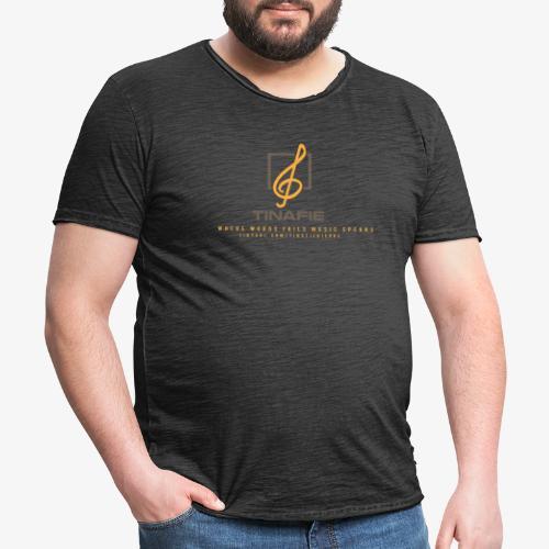 Where Words fails Music speaks!!! - Herre vintage T-shirt