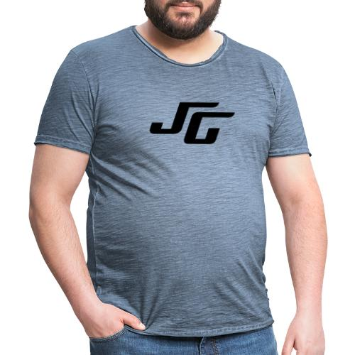 JG Logo schwarz - Männer Vintage T-Shirt