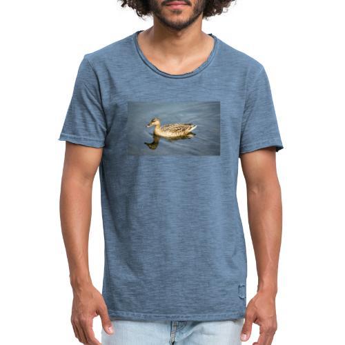Ente im Wasser - Männer Vintage T-Shirt