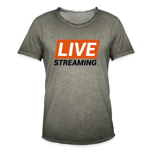 LIVE streaming - Maglietta vintage da uomo