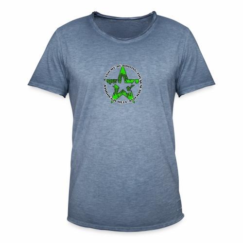 ra star slogan slime png - Männer Vintage T-Shirt