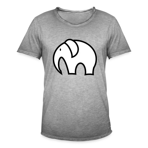 olifant pictogram - Mannen Vintage T-shirt