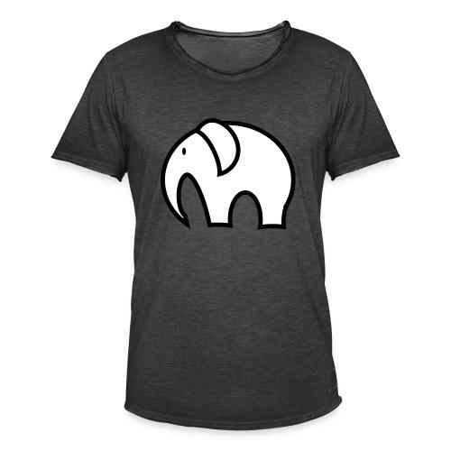 olifant pictogram - Mannen Vintage T-shirt