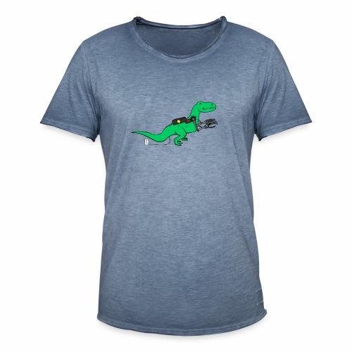cyborgsaurusprint - Mannen Vintage T-shirt
