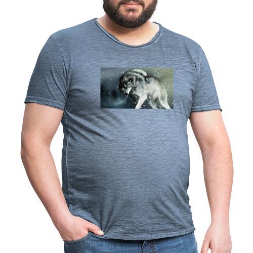 Wolf - Camiseta vintage hombre