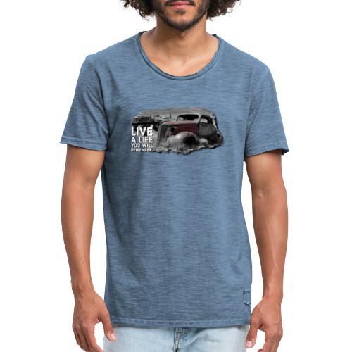 Live a life Oldtimer - Männer Vintage T-Shirt