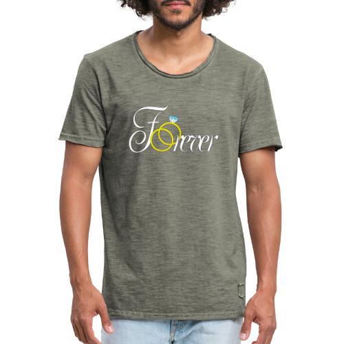Forever Ringe. Für Immer - Männer Vintage T-Shirt