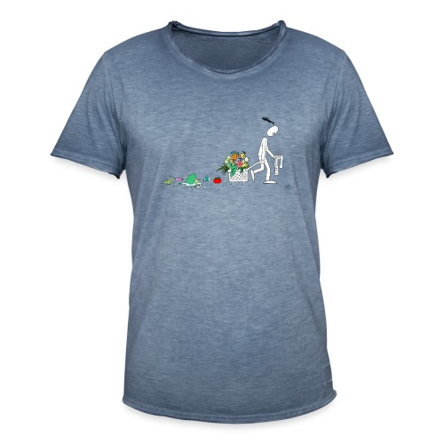 frukt og grønt handleveske - Vintage-T-skjorte for menn