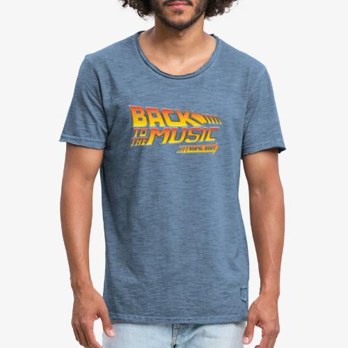 Back to the music Vinyl Edit - T-shirt vintage Homme