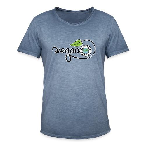 Vegan - T-shirt vintage Homme